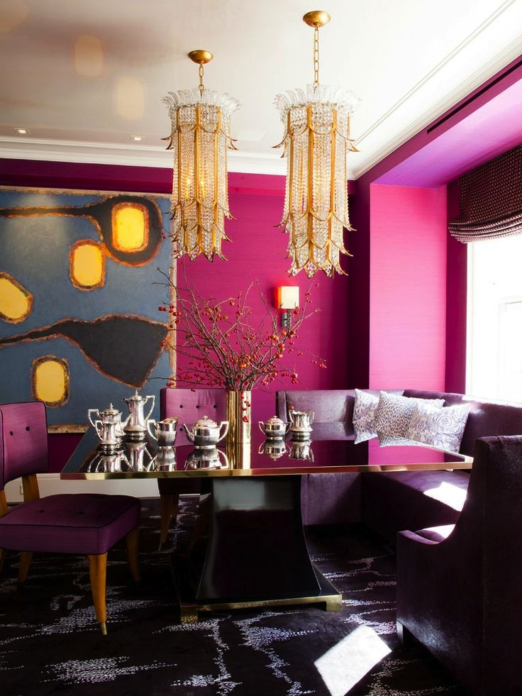 Radiant Orchid creates a strong base for an fabulous color scheme.