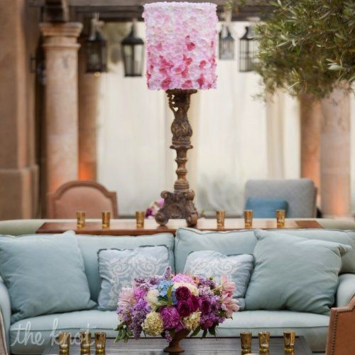 Touches of soft radiant orchid in this color scheme quietly embrace the trend.