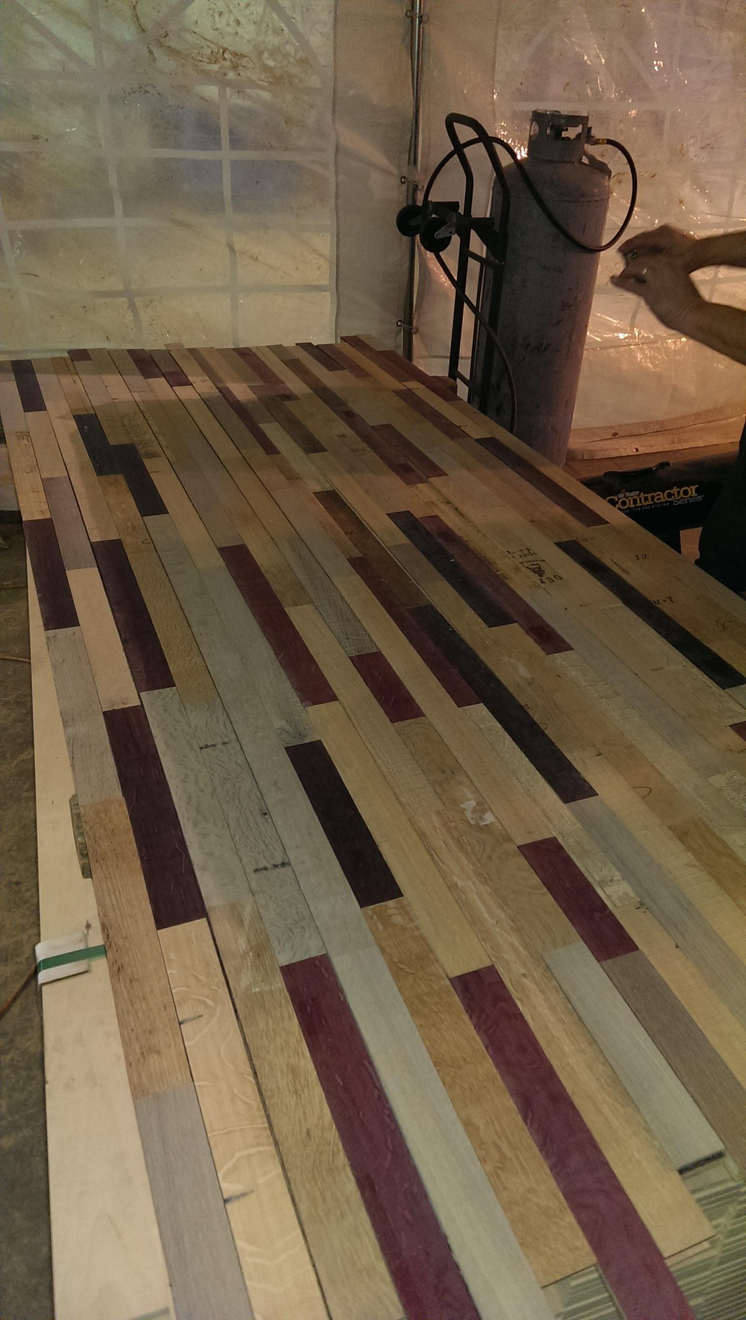 Robert Mondavi Barrel's Create Oak Floors
